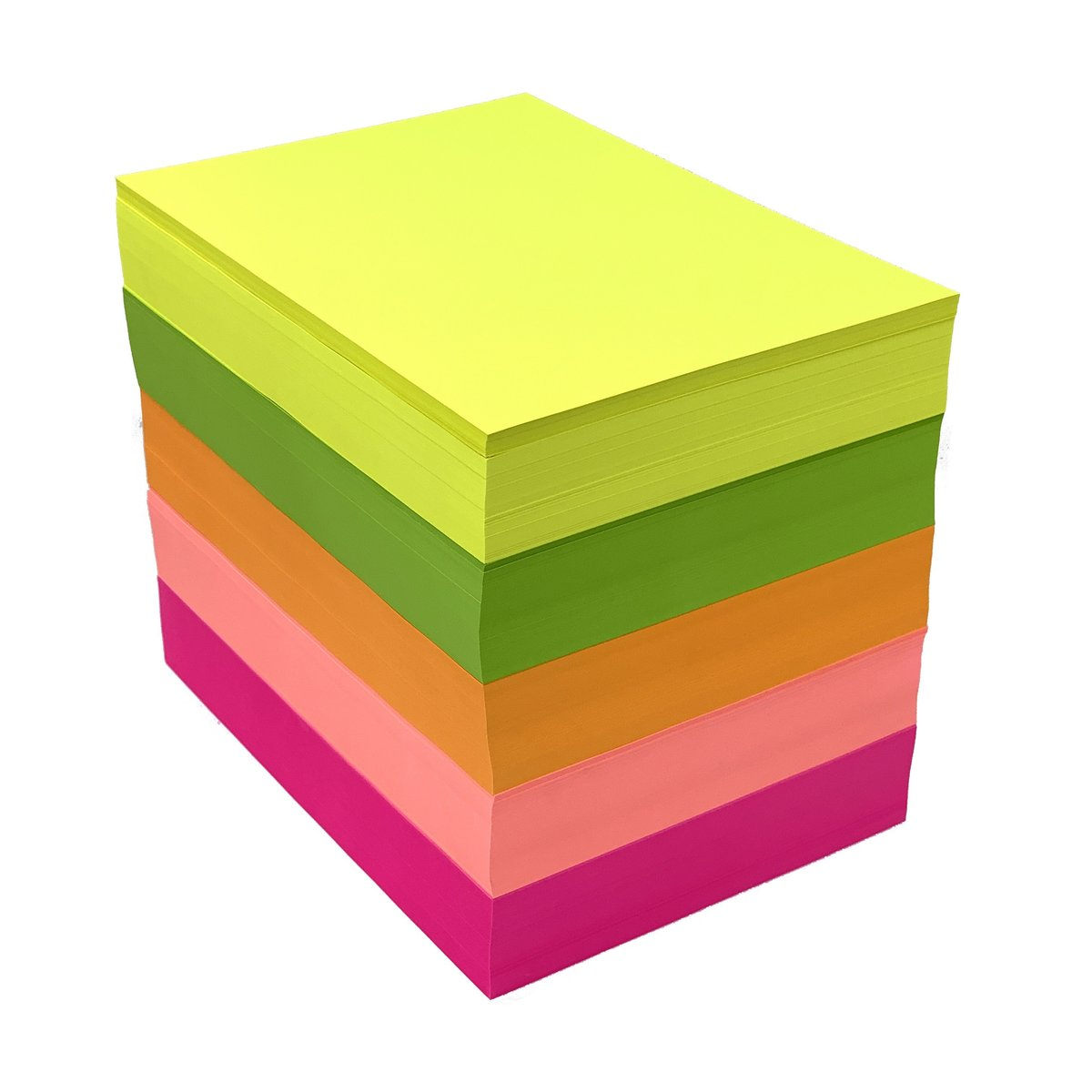 75gsm A4 Fluorescent Copy Paper (Yellow, Green, Orange, Pink, Red) 5c x 500sheets(2,500sheets)