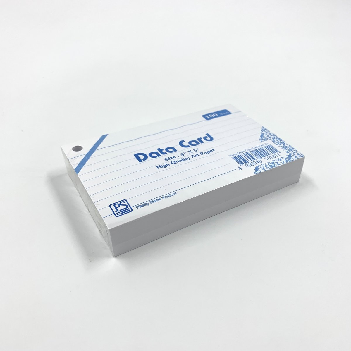 """3"""" x 5"""" DATA Card (Line) with holes - 6 packs"""