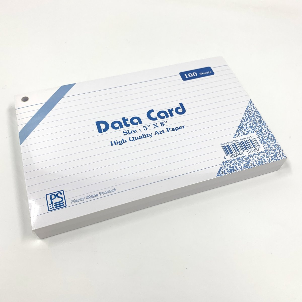 """5"""" x 8"""" DATA Card (Line) with holes - 3 packs"""