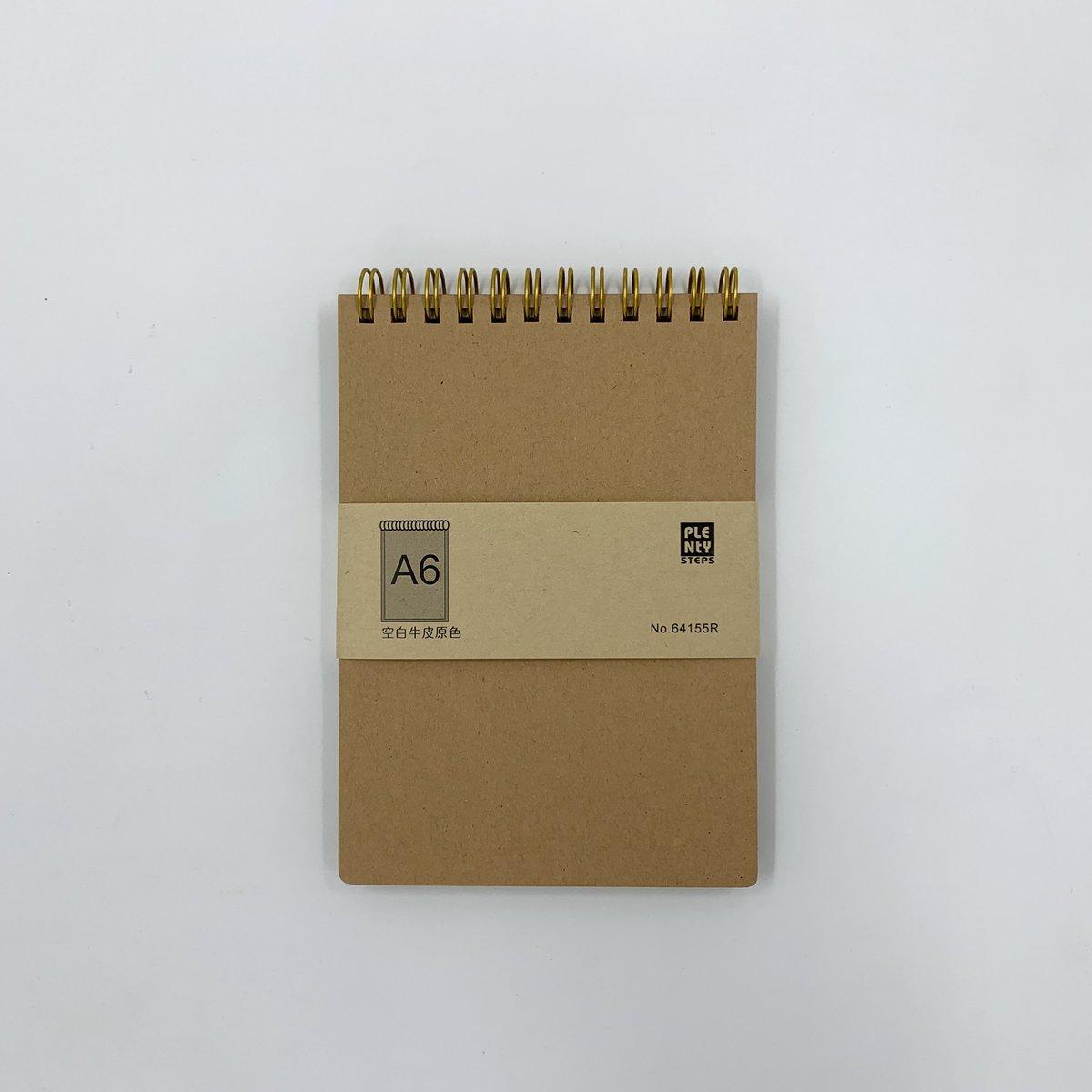 #64155R A6 特厚面 雙圈牛皮筆記簿 - 3本