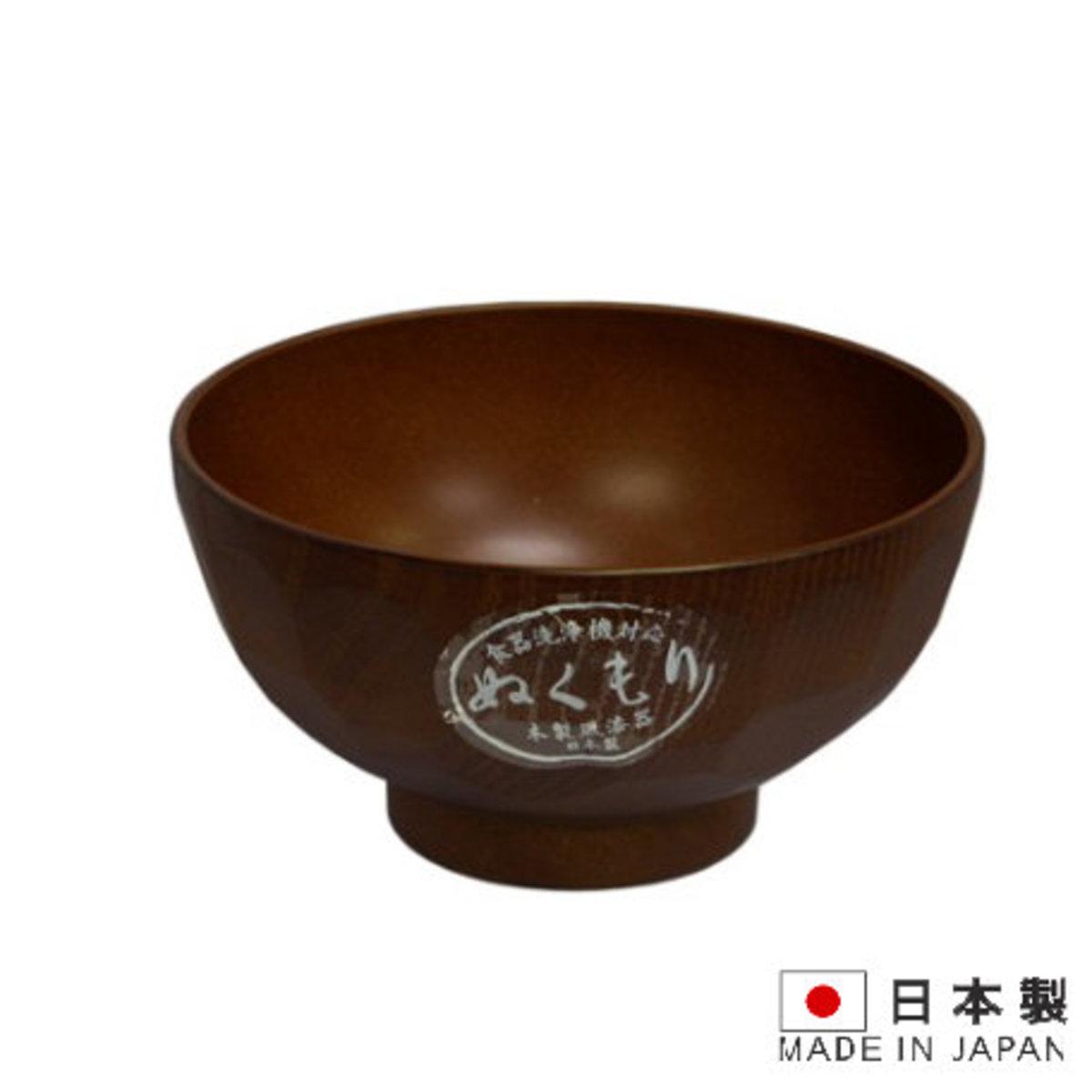 木紋龜甲凹凸紋湯碗飯碗_直徑11.5cm  [日本制]