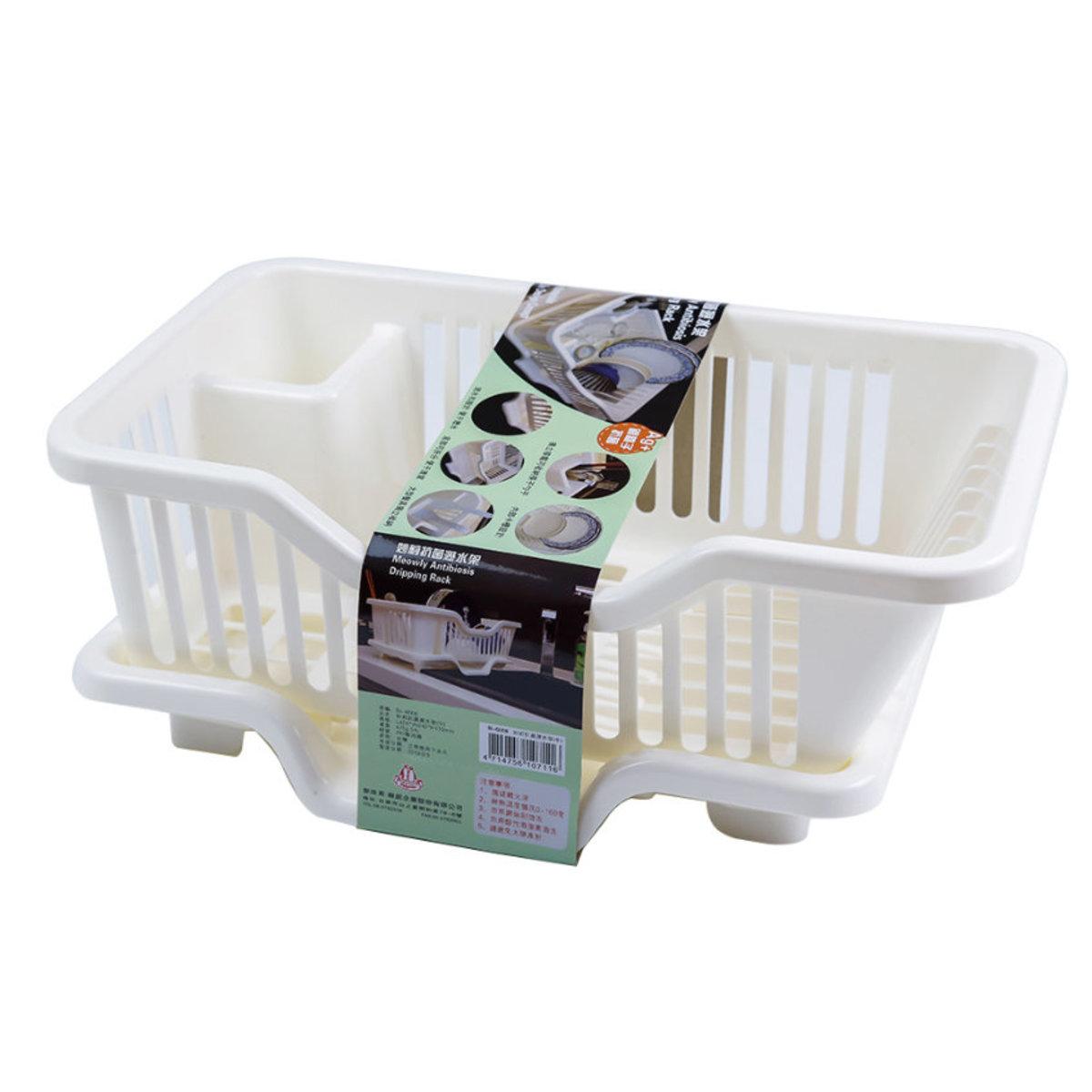 Silver Ion Addition Antibacterial Drain Tableware Bowl Basket Rack 240x425x170mm