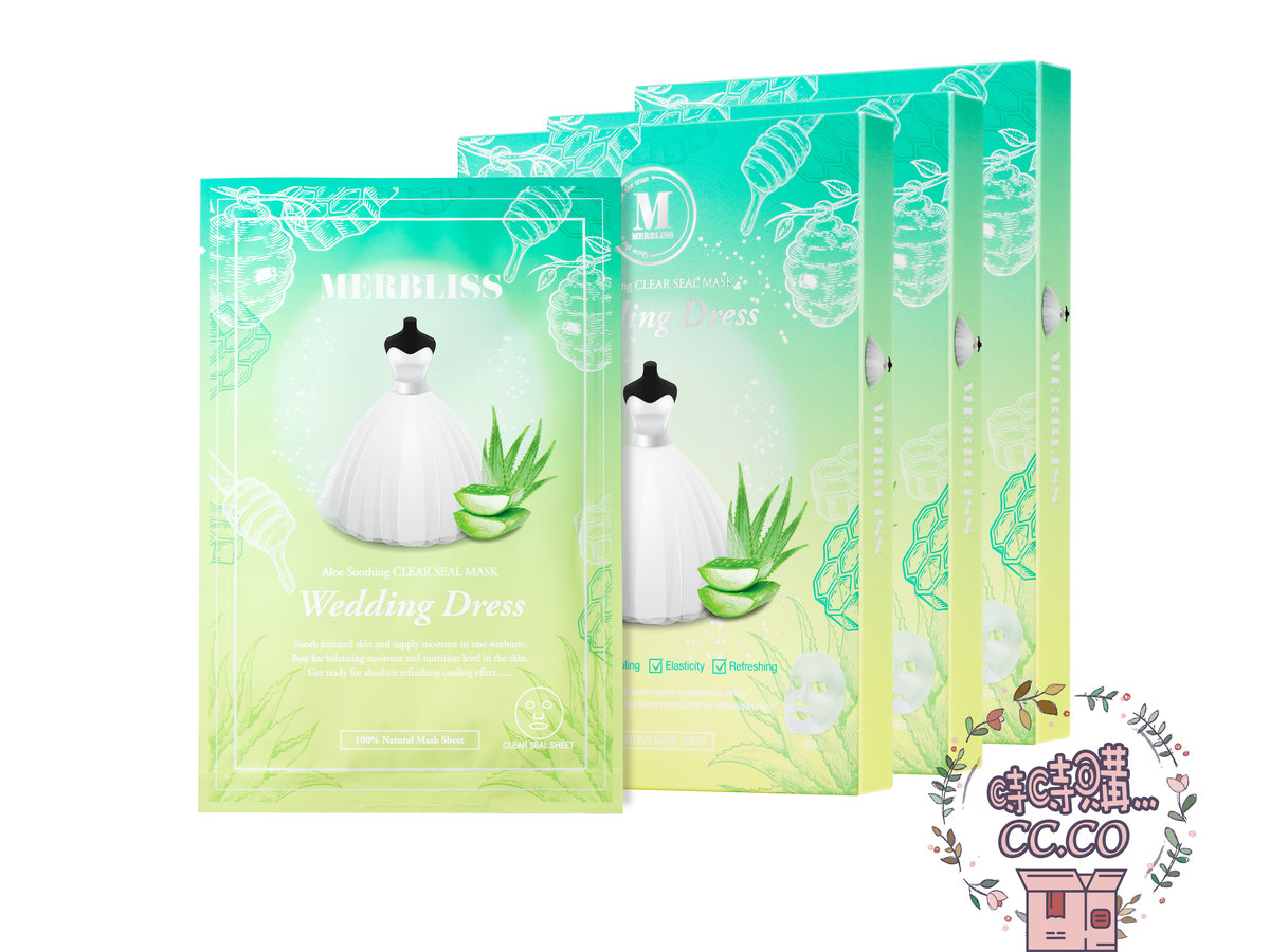 Wedding Dress Aloe Honey Soothing Clear Seal Mask (3boxes)(bc:8809542872067)