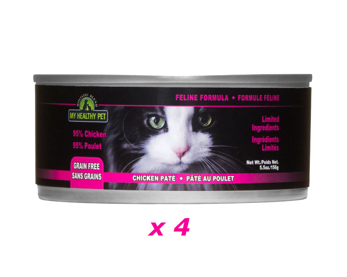 Holistic Blend GRAIN FREE All Life Stages Chicken Pate Canned food for Cats - 156g x 4 Cans