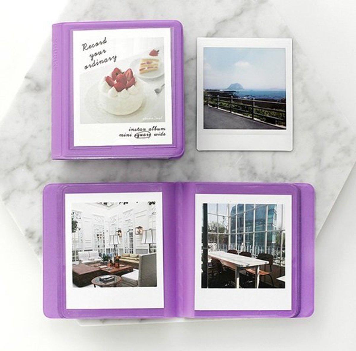 韓國製 2NUL寶麗來 即影即有 相簿(方形) 紫色