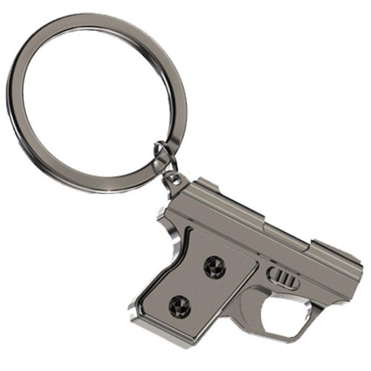 立體手槍匙扣