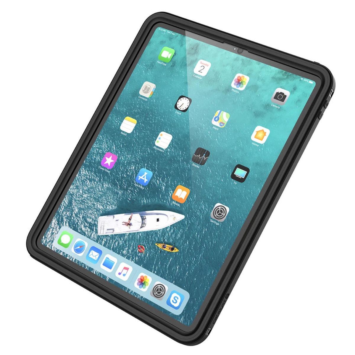 """Waterproof Case for 12.9"""" iPad Pro (3rd Gen 2018) - Stealth Black"""