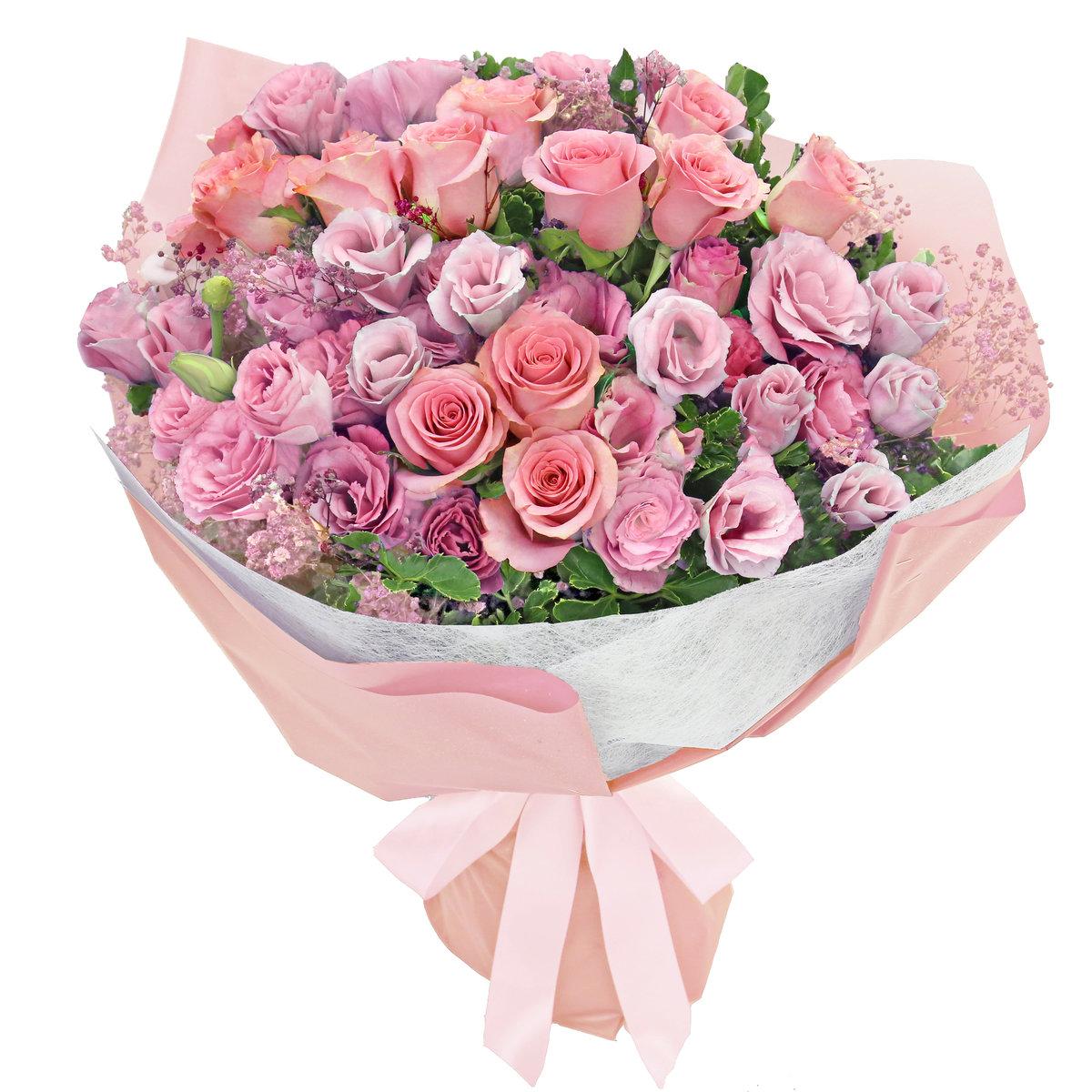 粉色玫瑰花束