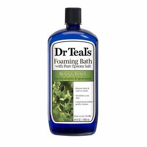 Dr. Teal's 桉樹薄荷純天然瀉鹽泡泡沐浴露1公升(平行進口)
