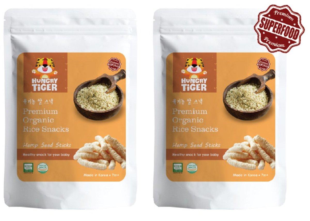 Organic Hemp Seed Brown Rice Sticks 30g (7m+) Twin Pack