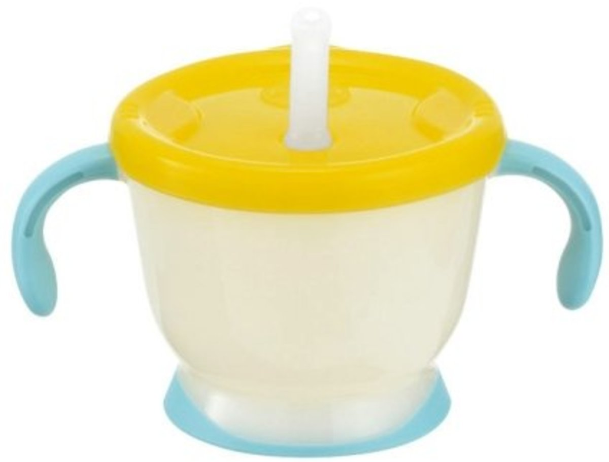 From 6 months Aqulea water pumping-up straw drinking cup (150ml) R Huang