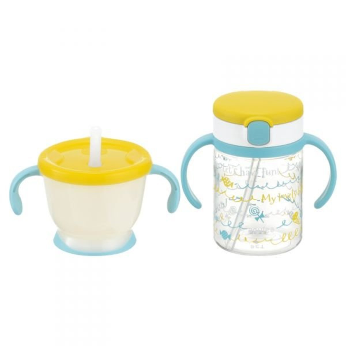 Aqulea straw drinking cup SET (150 + 200ml) R Huang