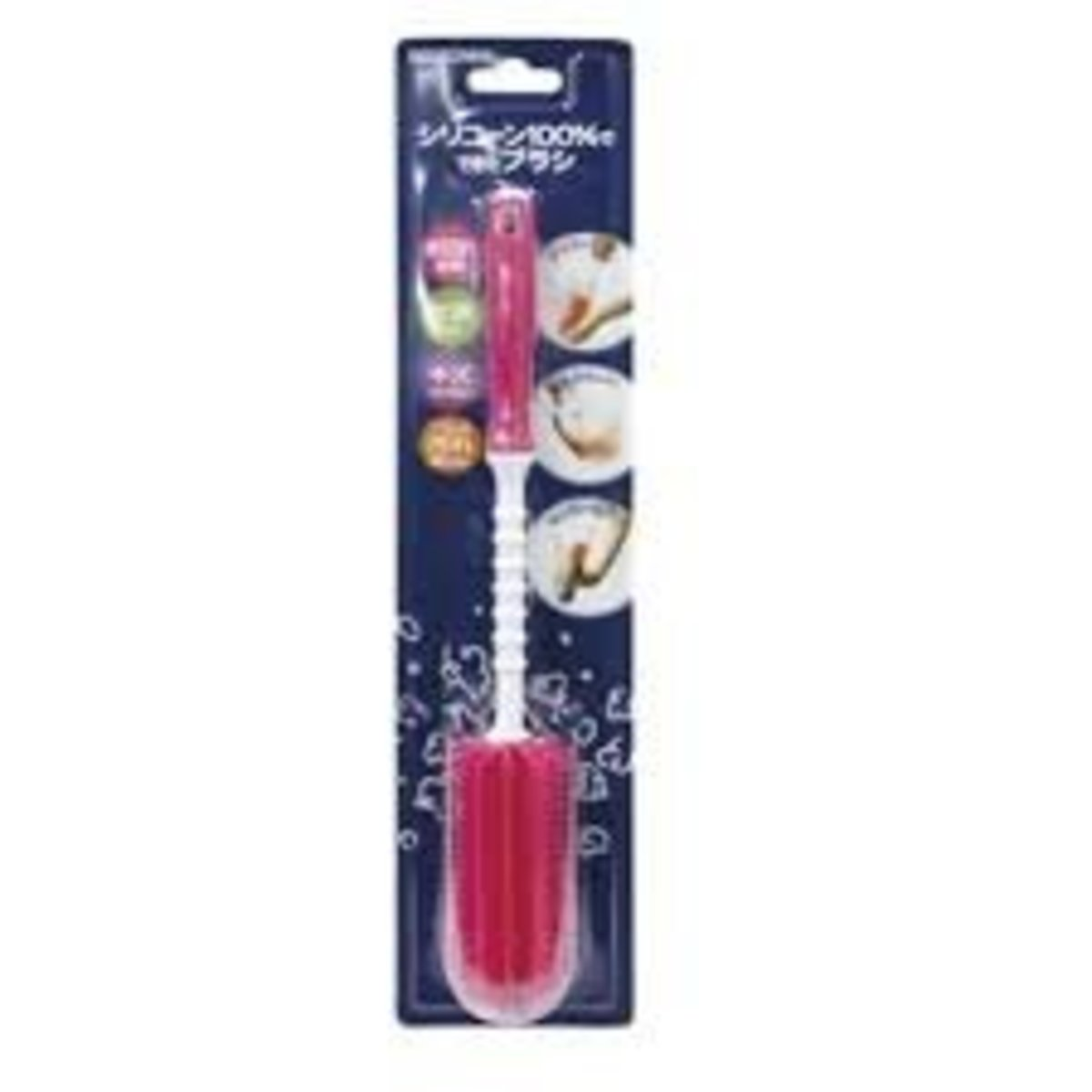 Edison silicone bottle brush (Pink)