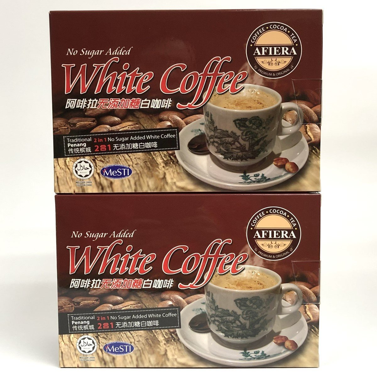 Penang White Coffee(2 in 1)No Additonal Sugar【2 boxes】