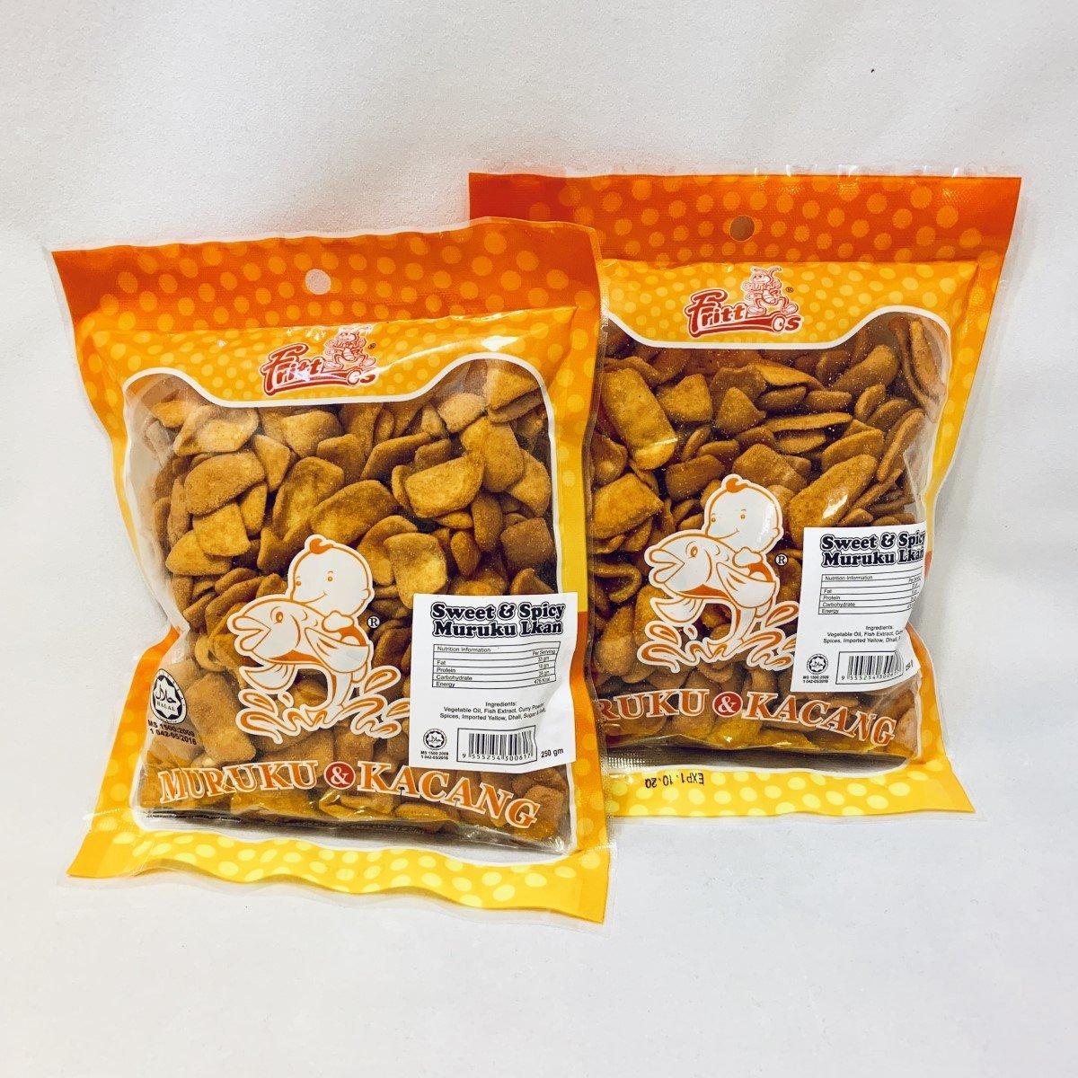 Malaysian fish cracker small chips (Sweet & Spicy) 【2 pcs】