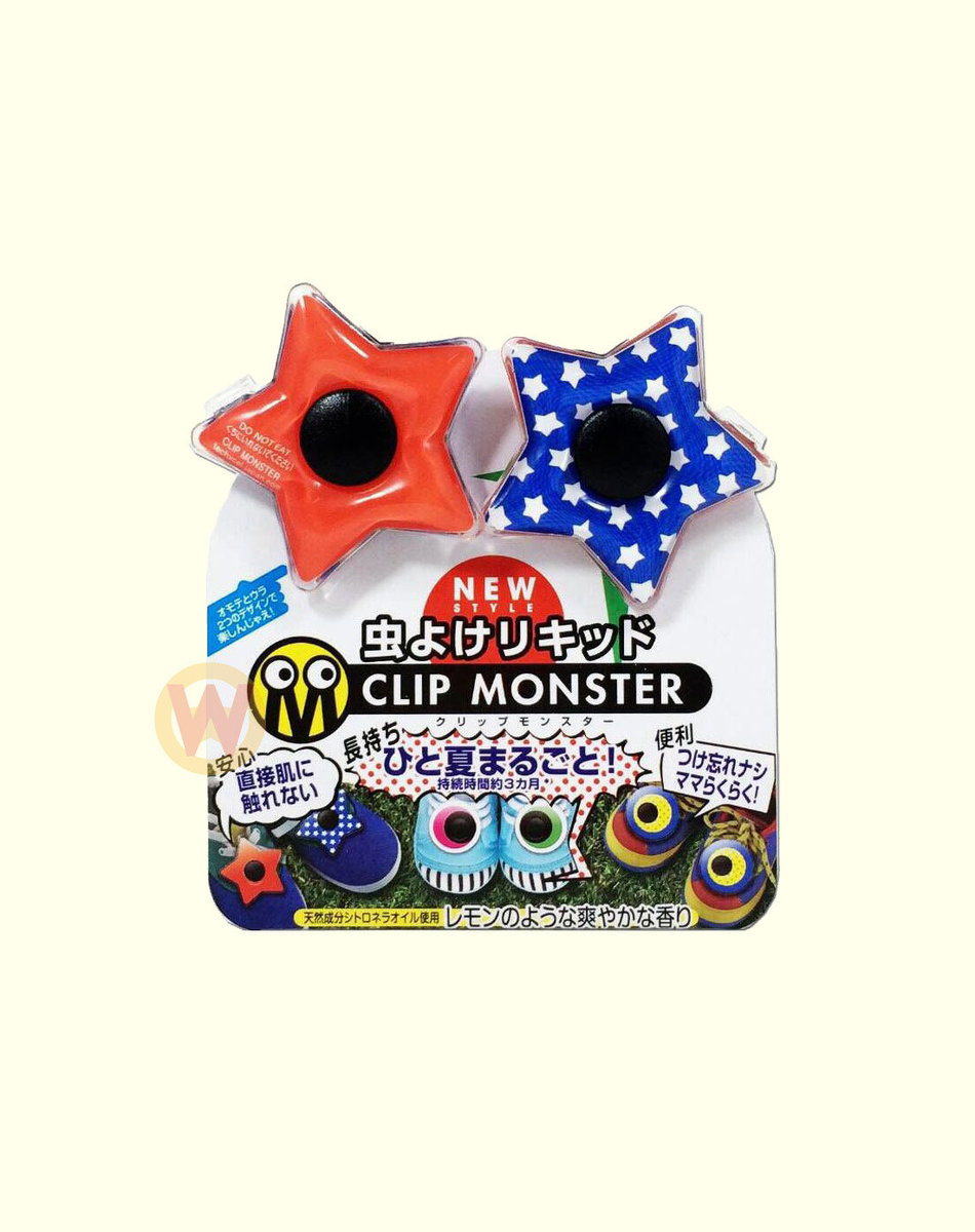 TEXCHEL CLIP MONSTER Insect Repellent - Stars [Parallel Import Product]