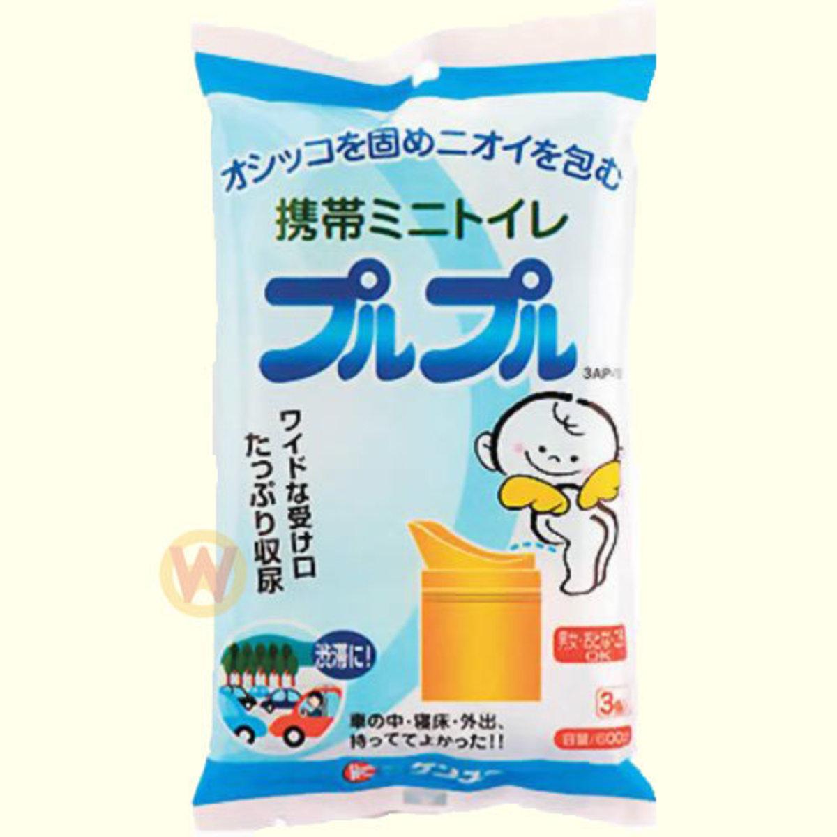 KENYUU MINI PORTABLE TOLIET 3SETS [Parallel Import Product]