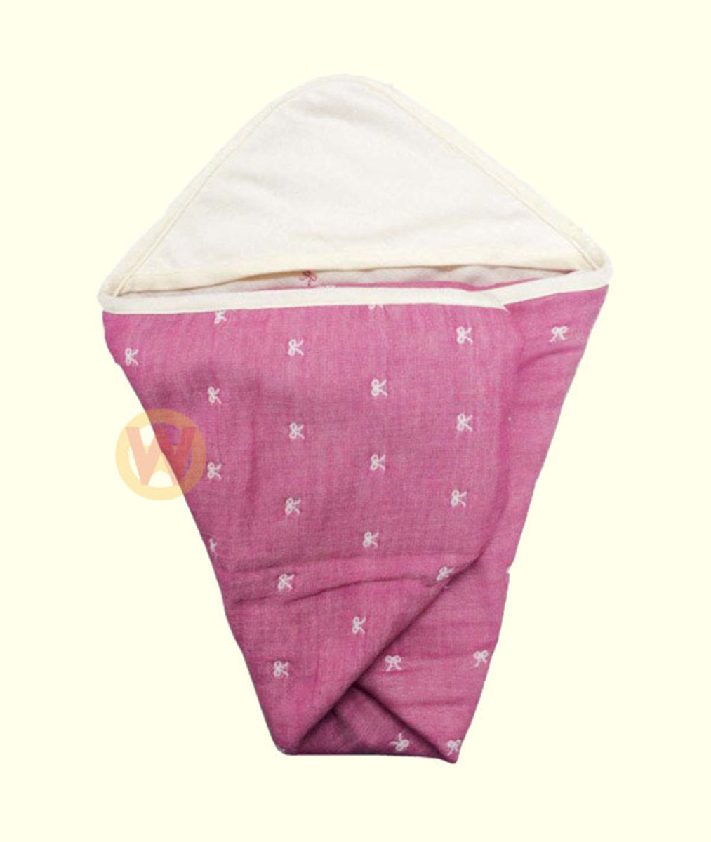 ETOFFA 日本製6重紗包布 粉紅蝴蝶 [平行進口]
