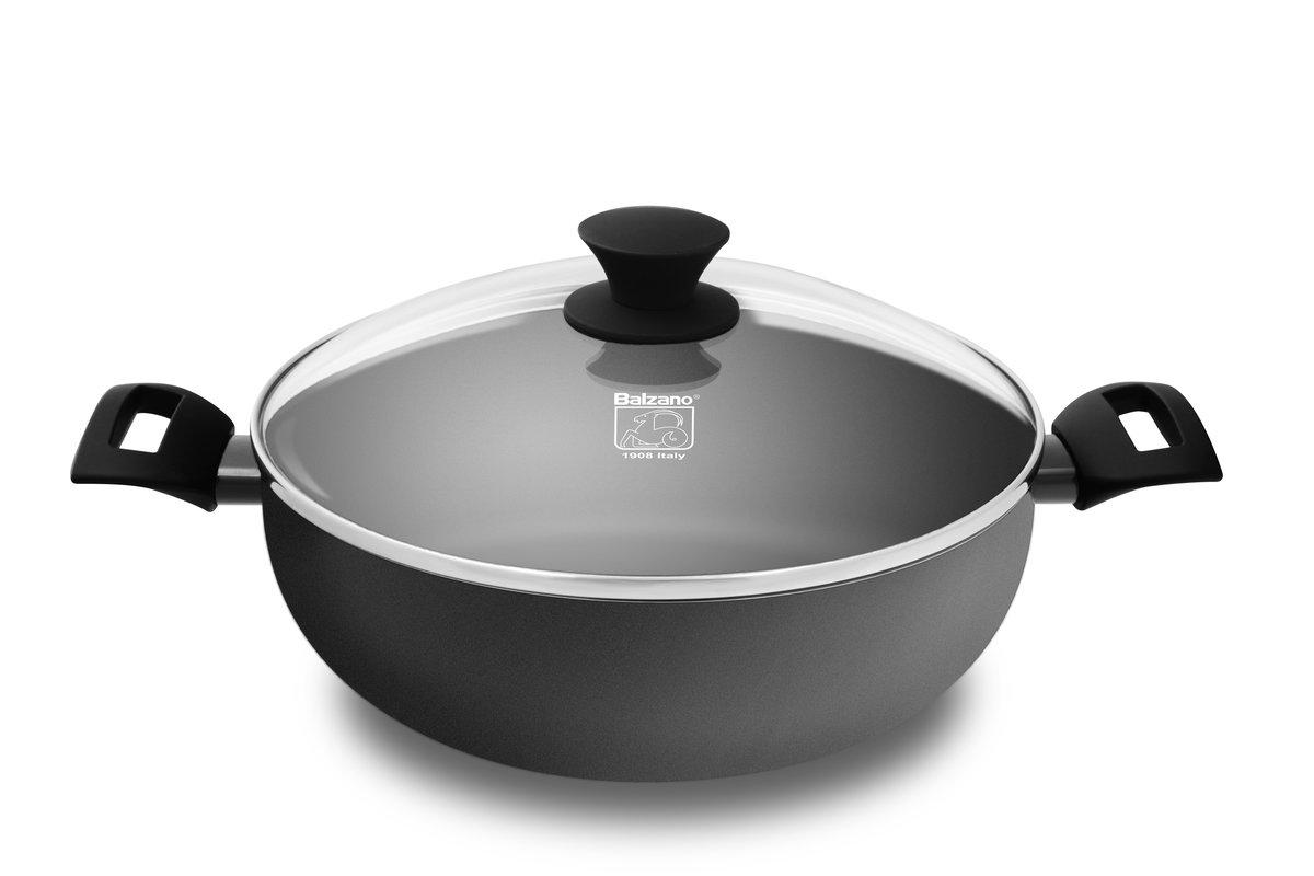 30CM Amy wok with glass lid