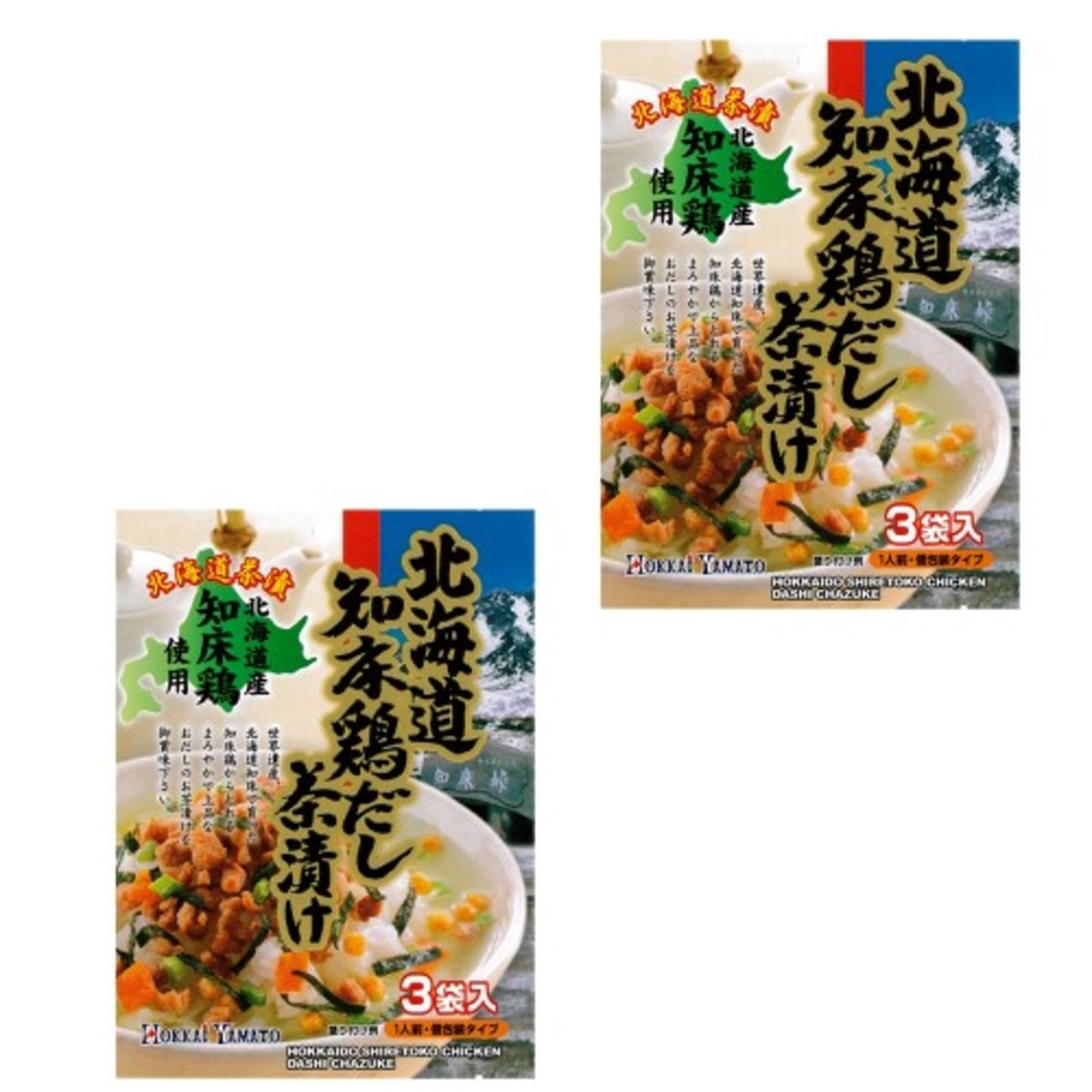 2 pcs Aynu-mosir Chicken Soup Chazuke (3 bags)(711053)(Japan Version )