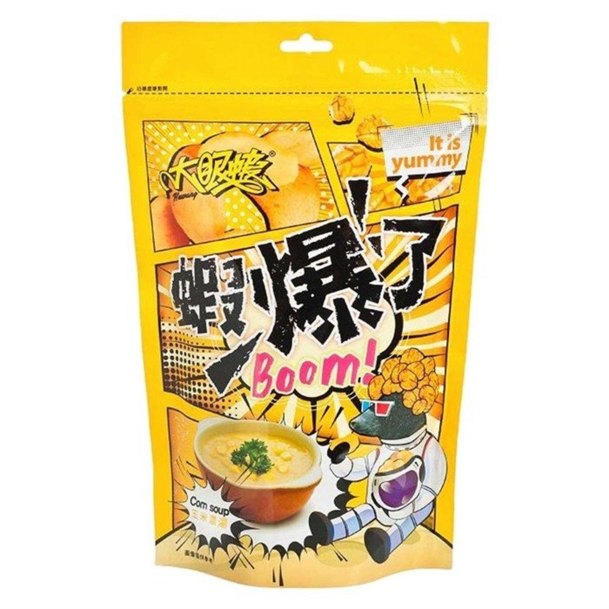 shrimp crackers & pop corn 80g (corn soup favour)