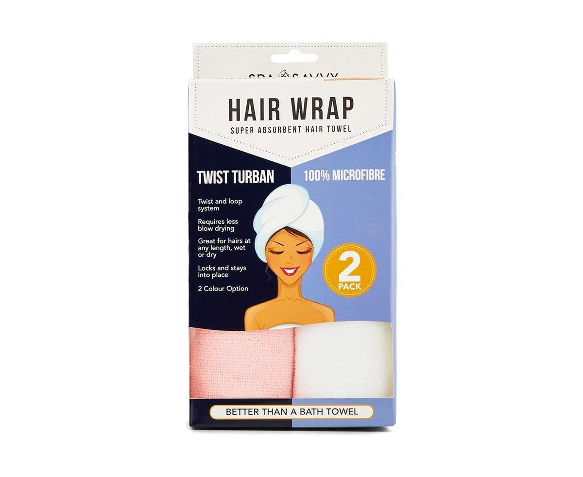 SPA Savvy 快速乾髮毛巾 (2條裝隨機發色)