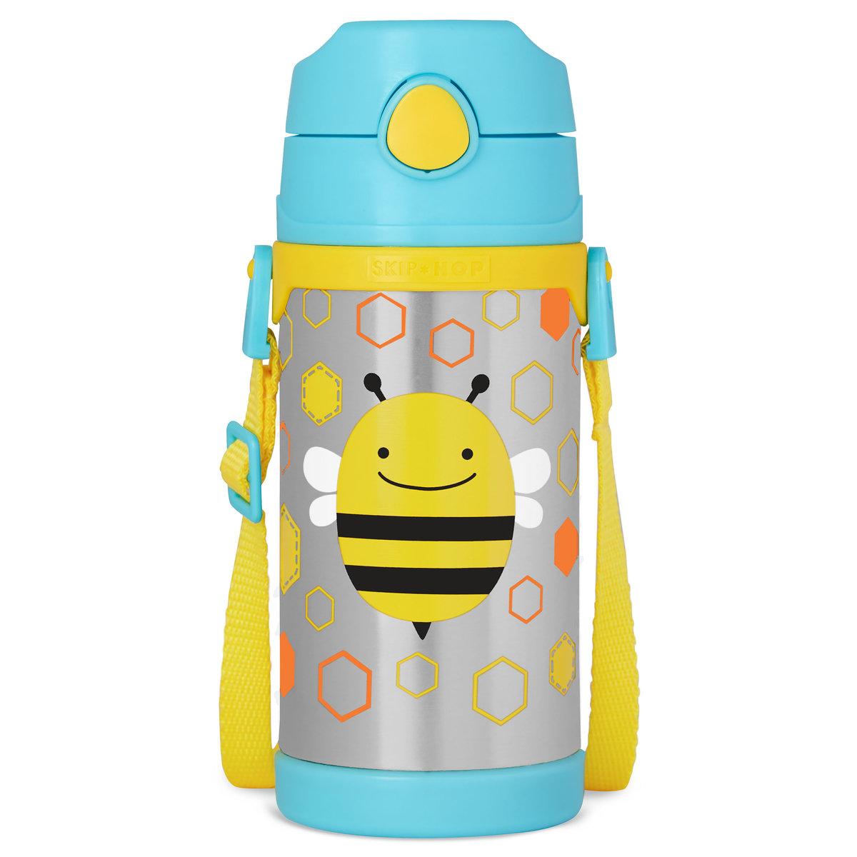 可愛動物園不銹鋼保溫水樽 - 小蜜蜂