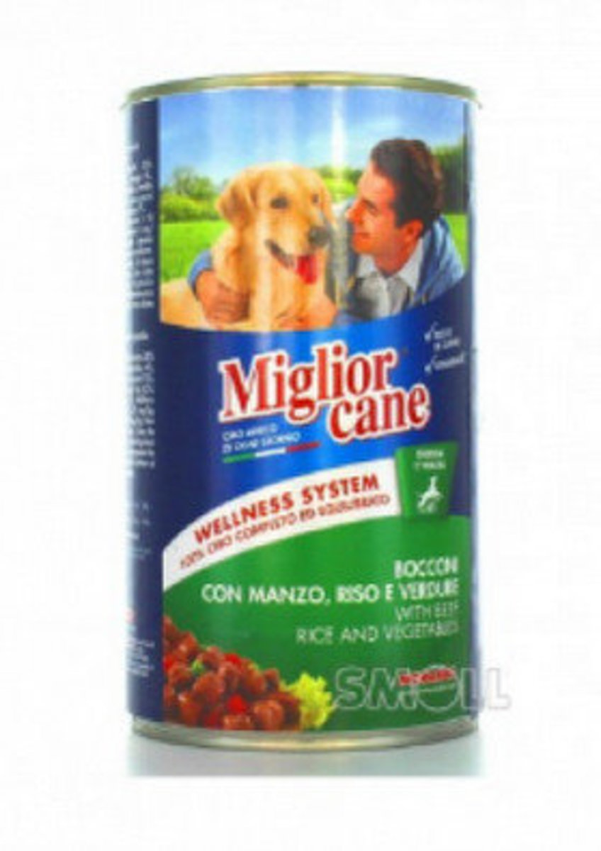 MORANDO Chunks with beef rice and vegetables Dog Canned Food 1250g