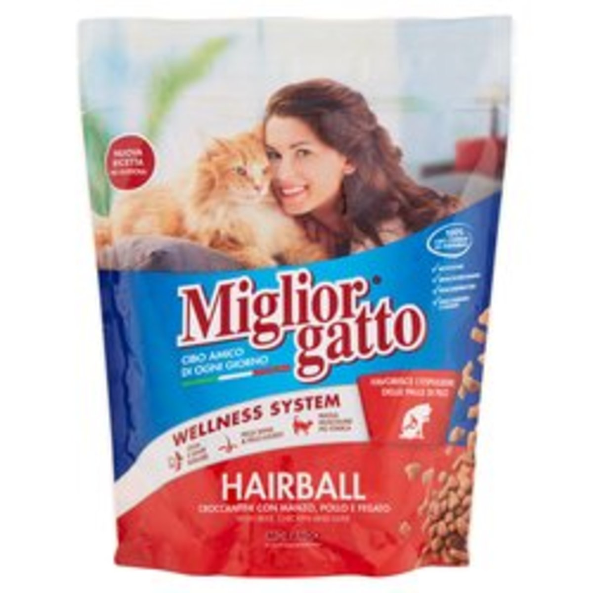 Hairball with Beef, Chicken and Liver Dry Cat Food 4kg(800g x5)