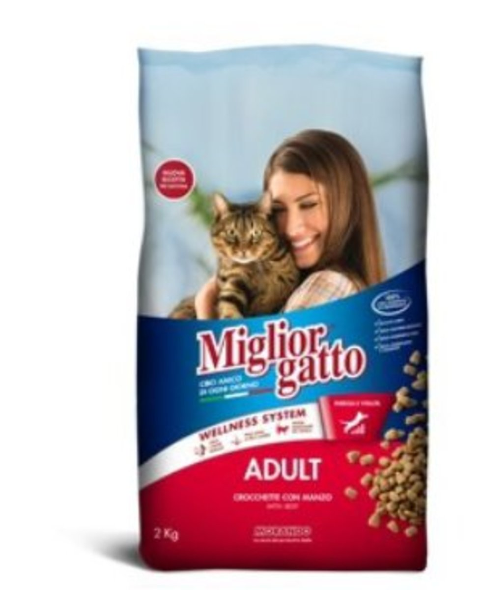 Migliorgatto Kibbles with Beef Adult Cat Food 2kg