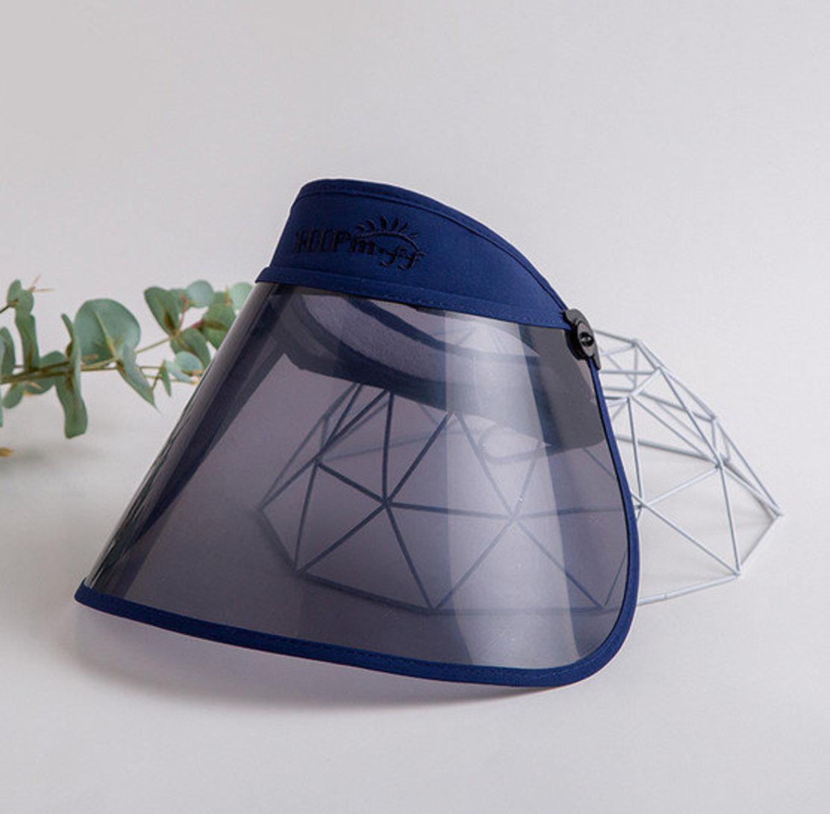 兒童款防飛沬面罩防曬帽(深藍) 飛機人多抗疫必備