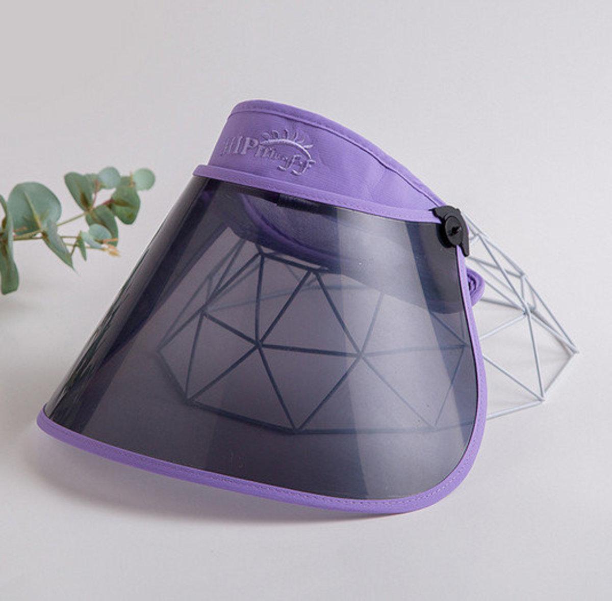 兒童款防飛沬面罩防曬帽(淺紫) 飛機人多抗疫必備
