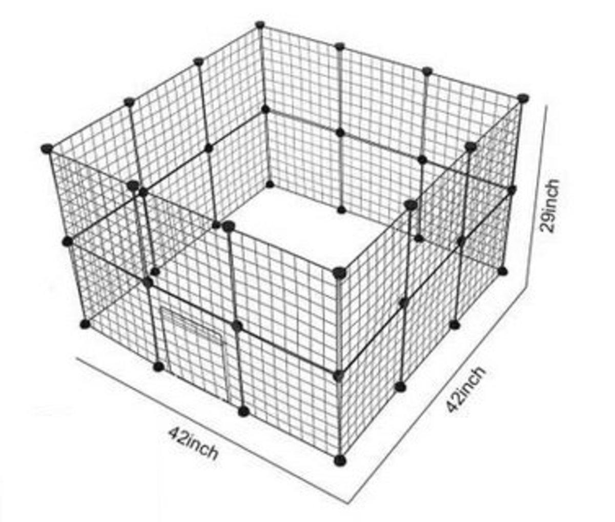 DIY 自由拼接貓狗籠兔籠圍欄(23網加1門)