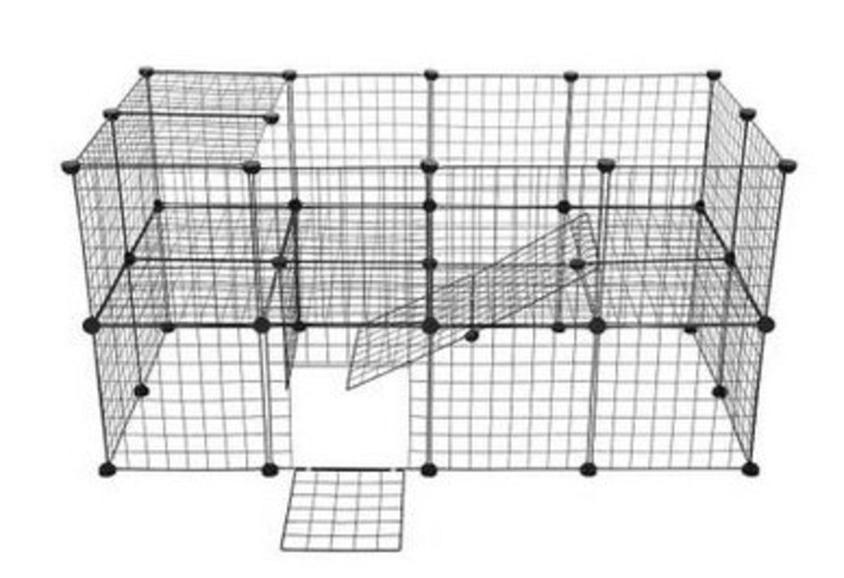 DIY 自由拼接貓狗籠兔籠圍欄(26網加1門)