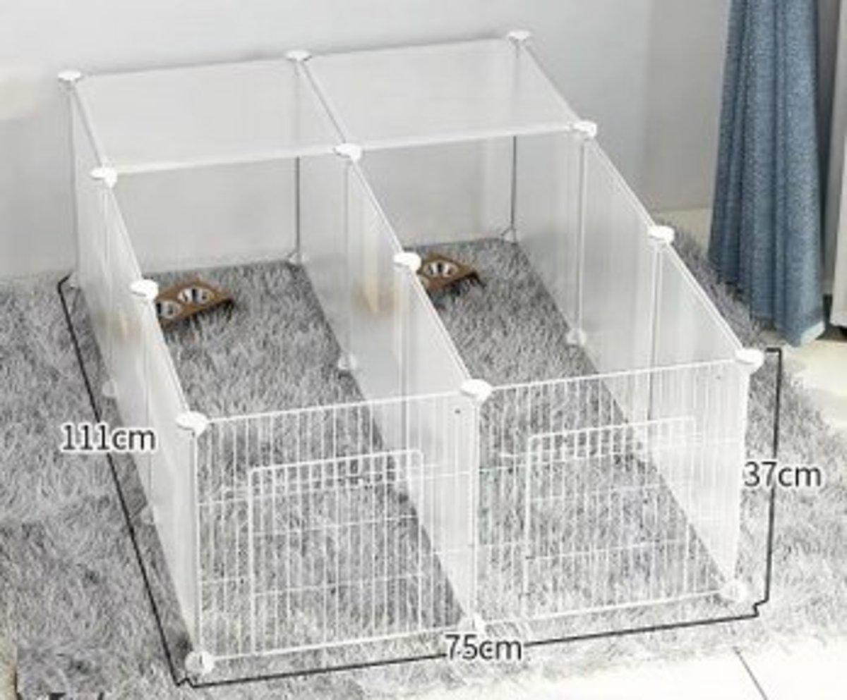 DIY 自由組裝寵物圍欄寵物窩(3格加3格帶門帶頂板)
