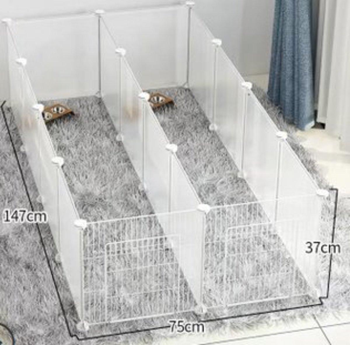 DIY 自由組裝寵物圍欄寵物窩(4格加4格帶門)