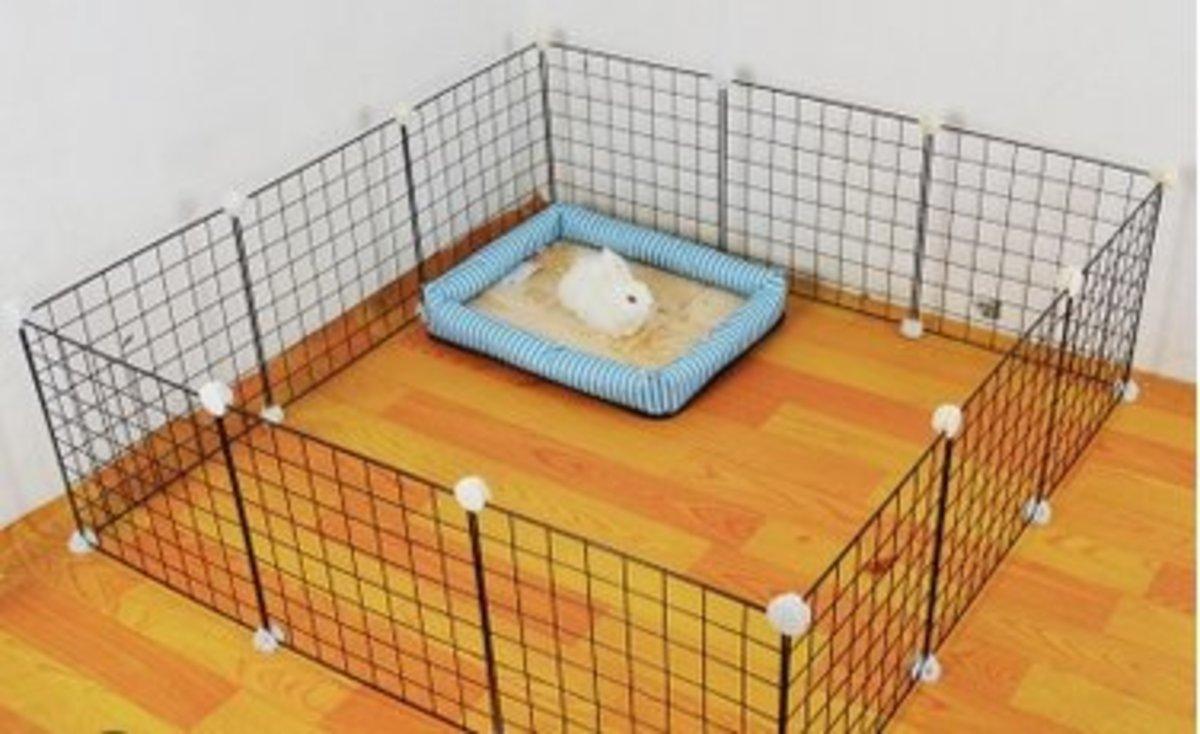 簡易組裝小型犬圍欄(12片白網)