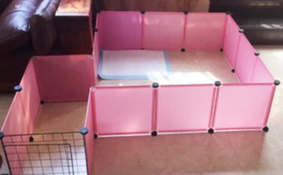 簡易組裝小型犬圍欄(15樹脂+1門)