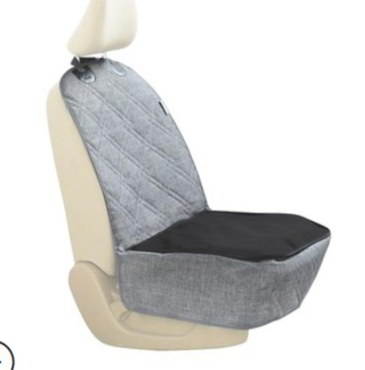 副駕駛座位寵物窩汽車墊帶網窗拉鍊(XK007灰)