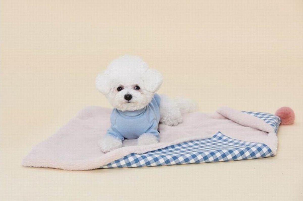 冬季保暖斗篷寵物墊(米色)