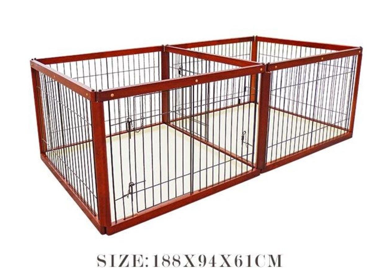 木製子母籠狗圍欄(AP款 188x94x61cm)棕色狗籠