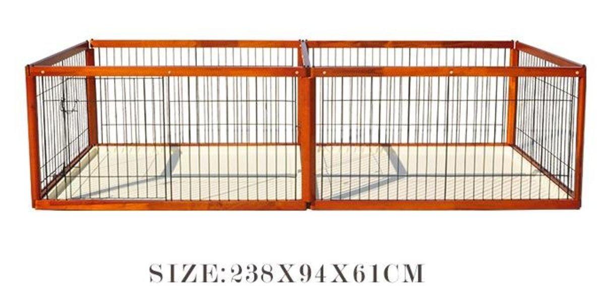 木製子母籠狗圍欄(BP款 238x94x61cm)棕色狗籠