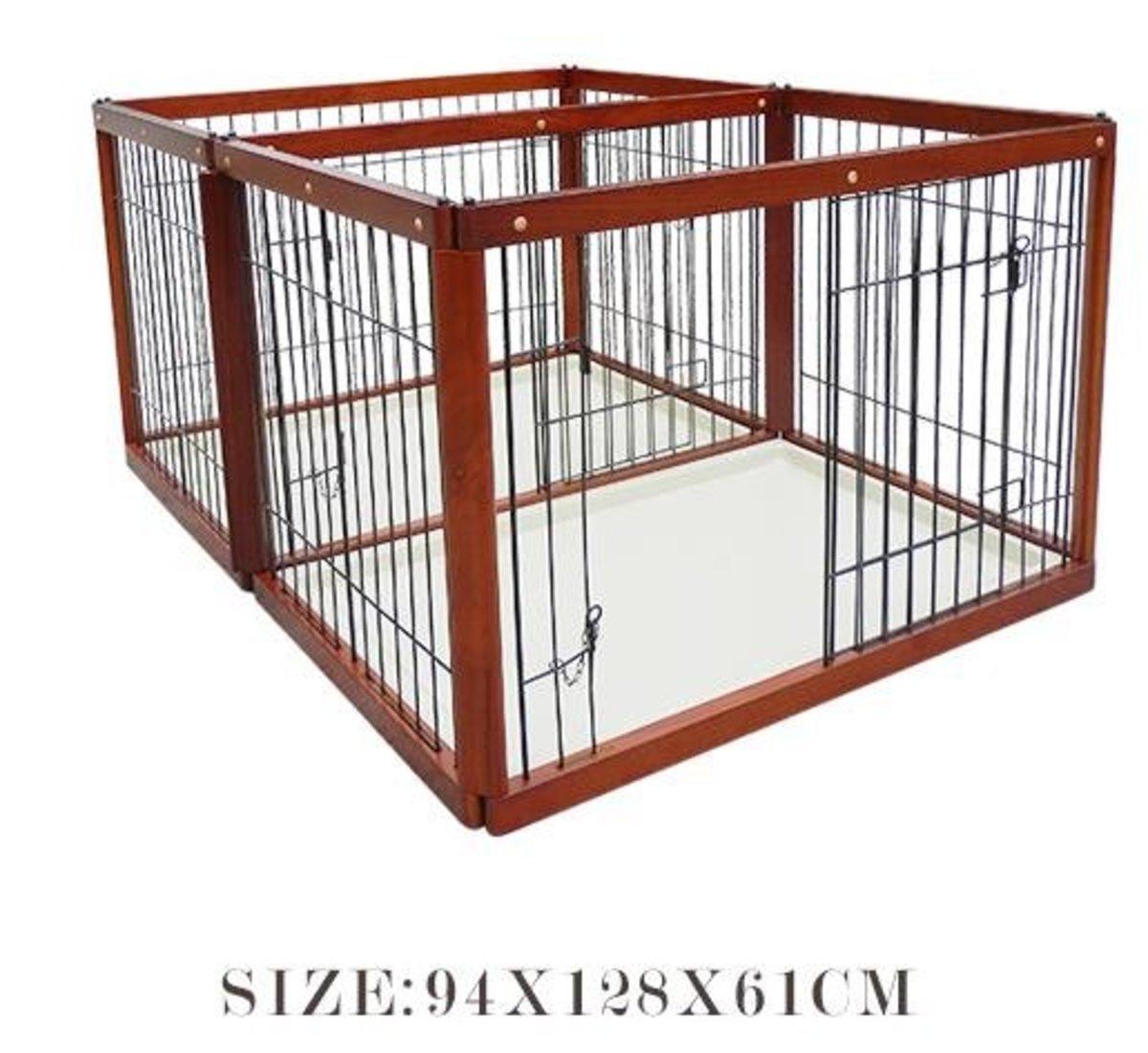 木製子母籠狗圍欄(KP款 94x128x61cm)棕色狗籠