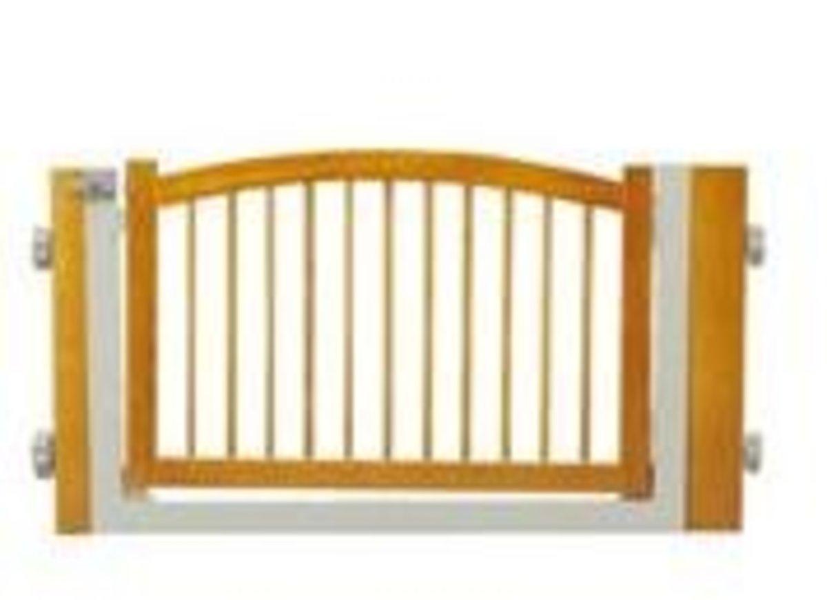 木製免打孔寵物門欄(門寬75-91cm高51.5cm)(WPG-500NS)