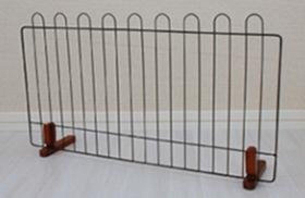 寵物門欄狗狗圍欄(黑色)90x57x17cm
