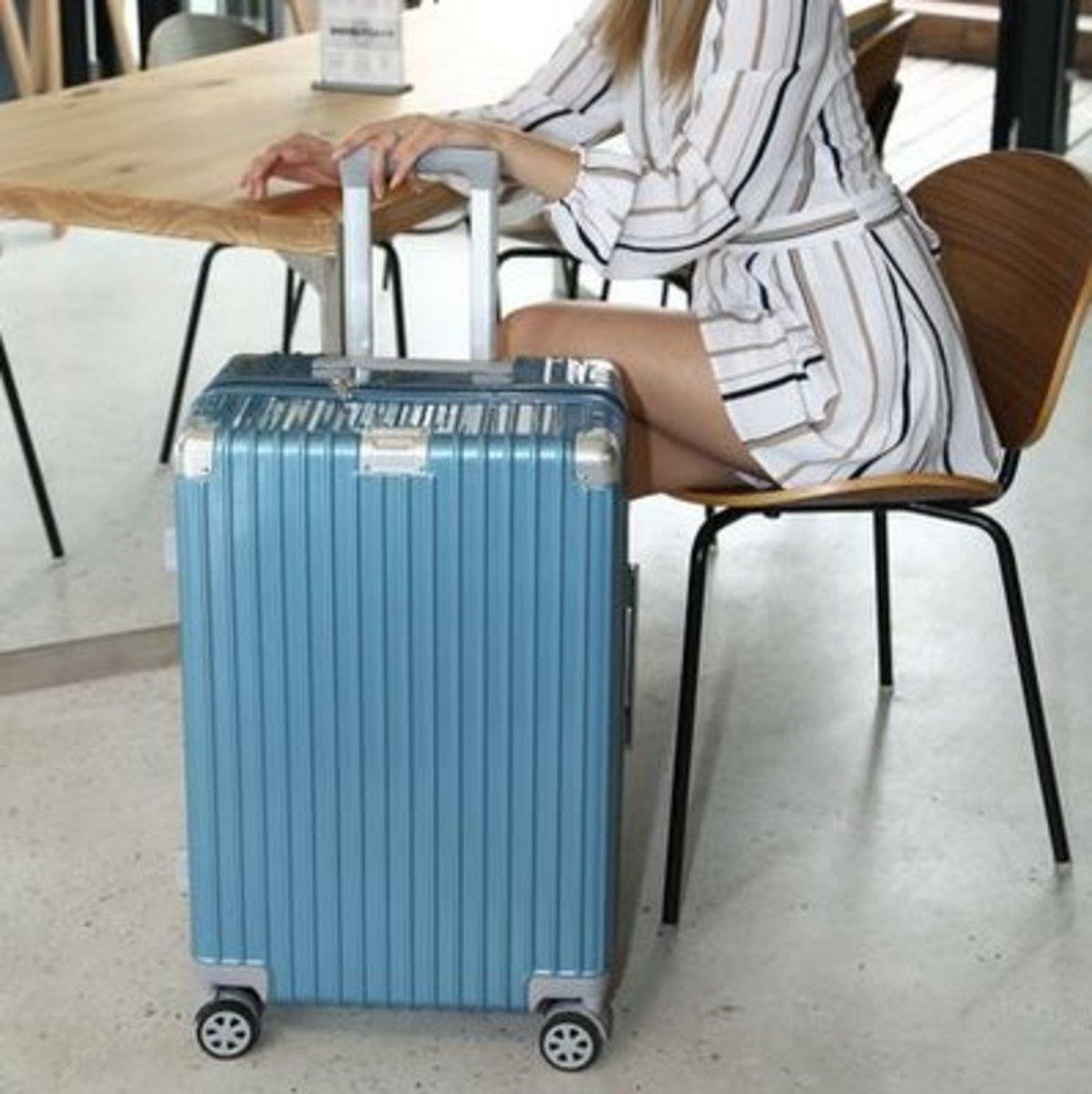 復古行李箱22吋(冰藍色)