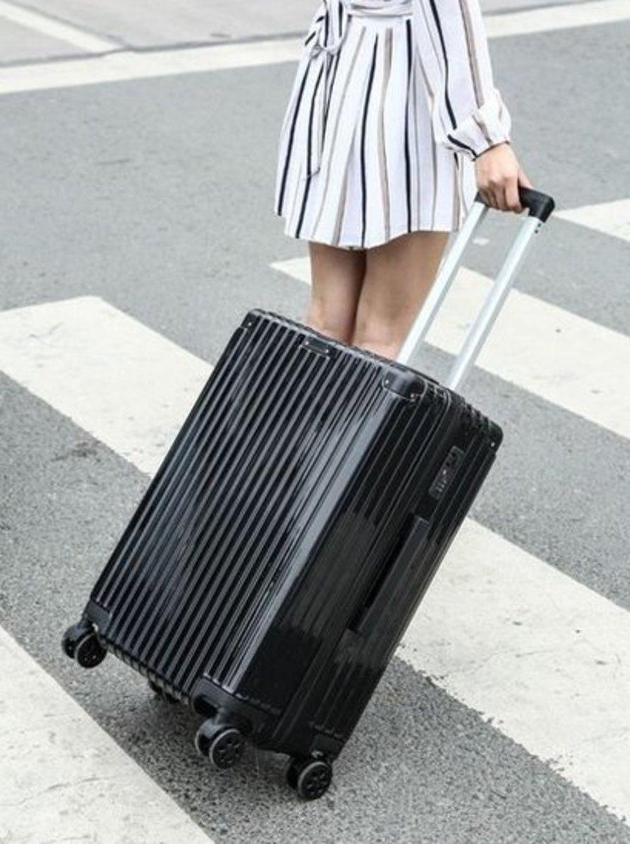 復古行李箱26吋(黑色)