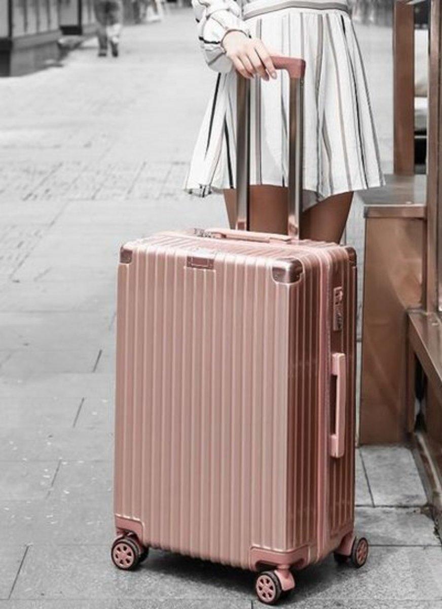 復古行李箱26吋(玫瑰金)