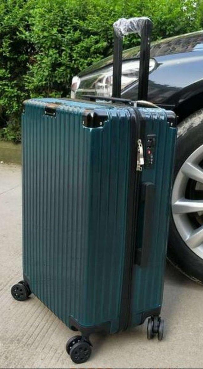 復古行李箱26吋(墨綠色)