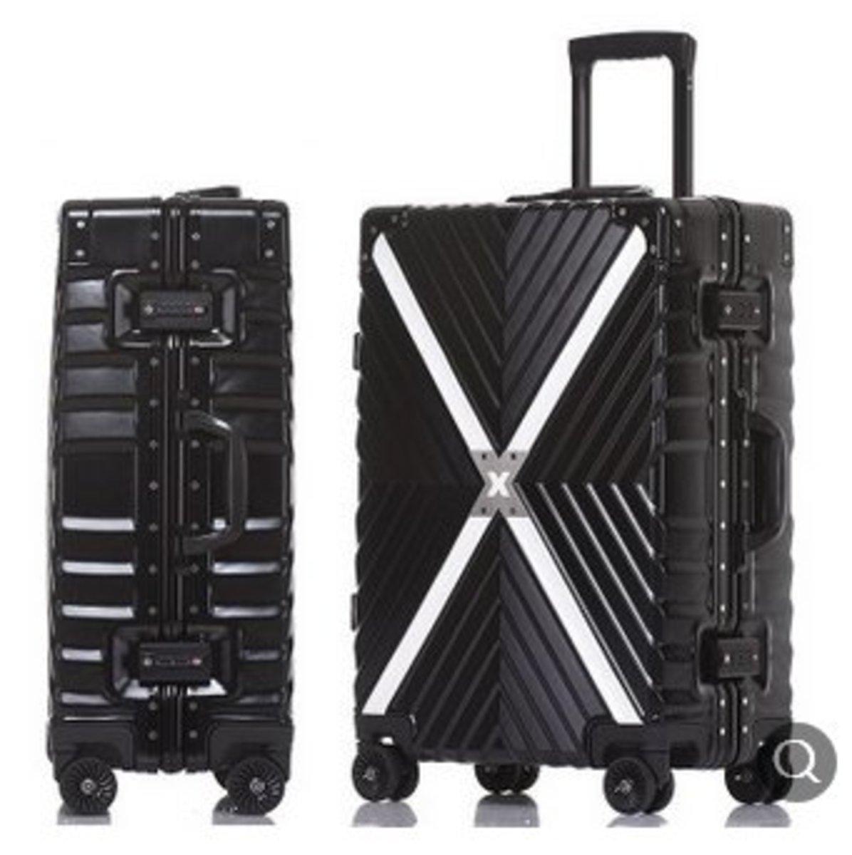 萬向輪拉桿箱行李箱(X戰警鋁框款50*35*24)黑色20寸